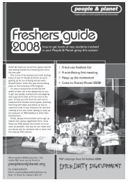 Freshers Week 2008 action guide - People & Planet