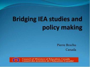 Pierre Brochu Canada - IEA