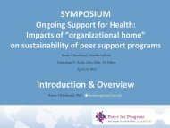 SYMPOSIUM Introduction & Overview - Peers For Progress