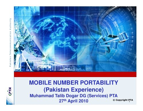 MOBILE NUMBER PORTABILITY (Pakistan Experience) - LIRNEasia