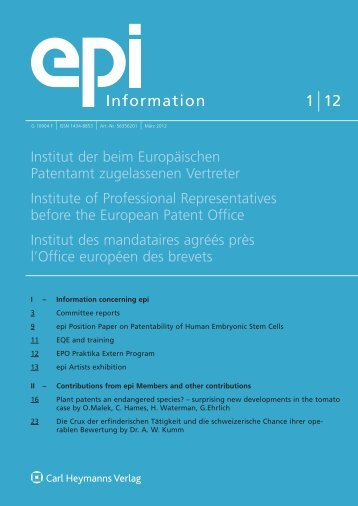 epi - European Patent Institute