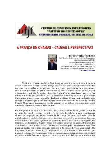 a frança em chamas – causas e perspectivas - UFJF /Defesa
