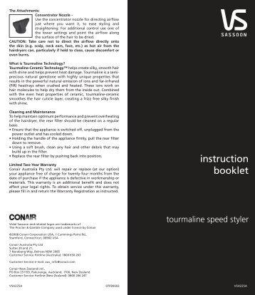 Instruction book - VS Sassoon