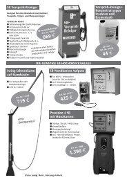 Vorsprüh-Reiniger - Robe Reinigungsmaschinen GmbH