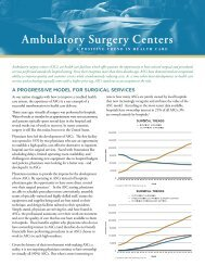 Ambulatory Surgery Centers – A Positive Trend in Health Care