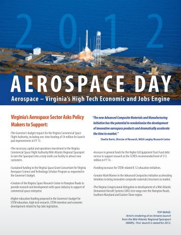 Aerospace – Virginia's High Tech Economic and Jobs Engine