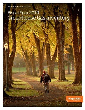 Greenhouse Gas Inventory - Oregon State University