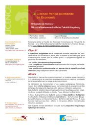 Licence franco-allemande en Economie - WiWi - Universität Augsburg
