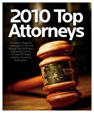 2010 Top Attorneys - Pasadena Magazine
