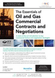 Oil and Gas Commercial Contracts and Negotiations - Warren ...