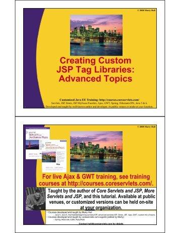 Custom-Tags-Advanced.. - Custom Training Courses - Coreservlets ...