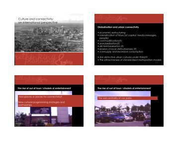 Culture and connectivity: an international perspective - urban-design ...