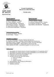CR Conseil exploitation regie eau du 5 décembre 2012