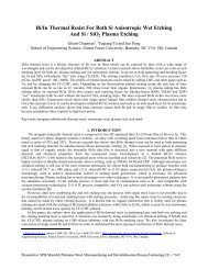 Bi/In Thermal Resist For Both Si Anisotropic Wet Etching And Si ...