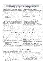 Programme des prochaines formations ANERCEA + Bulletin de ...