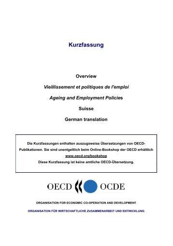 zusammenfassung und empfehlungen - OECD Online Bookshop