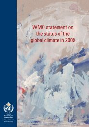 WMO statement on the status of the global climate in 2009