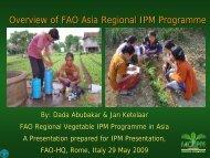 Overview of FAO Asia Regional IPM Programme - Vegetableipmasia ...