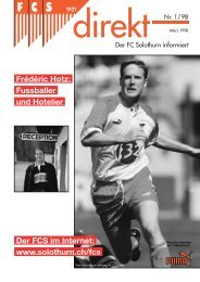 00 QX FCSdirekt 1/98 - FC Solothurn