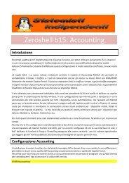 Zeroshell b15: Accounting - Paolo PAVAN