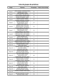 Lista de grupos de prácticas
