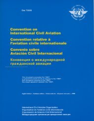 Convention on International Civil Aviation Convention relative a ...