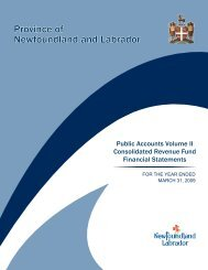 Volume II - Finance - Government of Newfoundland and Labrador