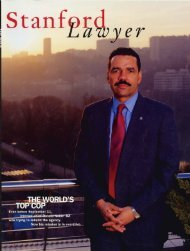 Spring 2002 – Issue 62 - Stanford Lawyer - Stanford University