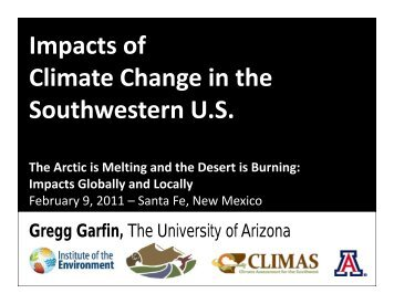Impacts of p Climate Change in the Southwestern U.S. - New Energy ...