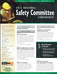 2012 regional safety committee conference - The Pacific Safety Center