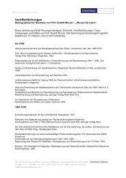 Veröffentlichungen - Städtebau - Technische Universität Wien