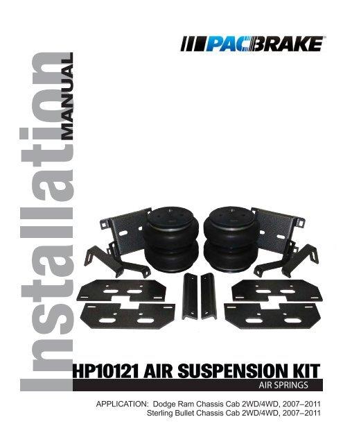 Pacbrake HP10070 Rear Air Suspension Kit