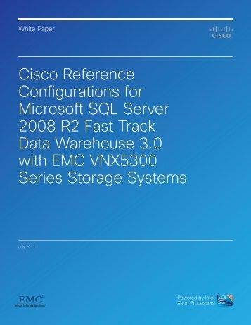 Cisco Reference Configurations For Microsoft SQL Server - EMC ...