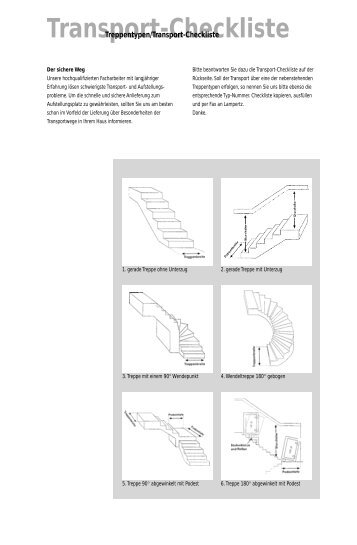 Transport Checkliste kopieren, ausfüllen und faxen