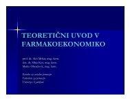 teoretični uvod v farmakoekonomiko - Fakulteta za farmacijo ...