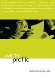 Ammattilaisen tapa tehdä luonnollisia valintoja - Paper Profile