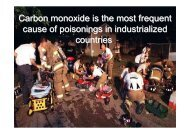 Carbon monoxide is the most frequent cause of ... - Physio control
