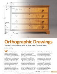 Orthographic Drawings - Woodcraft Magazine