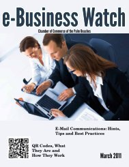 E-Business Watch - Chamber of Commerce of the Palm Beaches