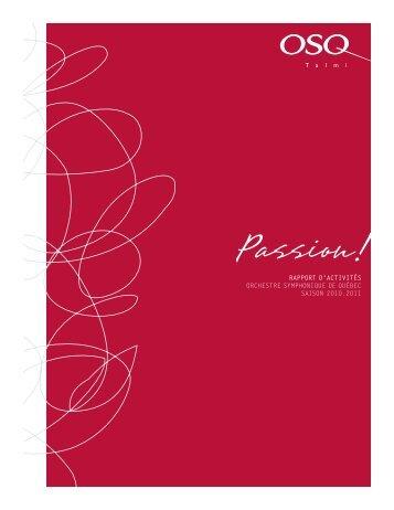 Passion! - Orchestre symphonique de Québec