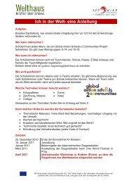 Ich in der Welt- eine Anleitung - Welthaus Graz