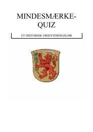 Mindesmærke-Quiz.