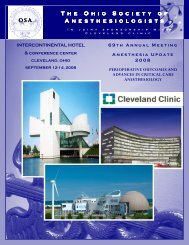 2008 Annual Meeting Brochure - The Ohio Society of ...