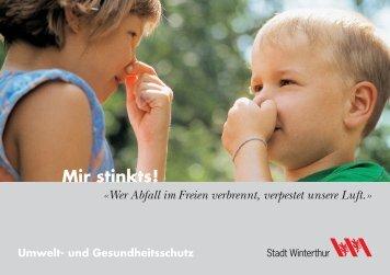 Mir stinkts! - Umwelt-/ Gesundheitsschutz - Winterthur