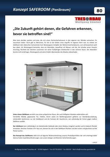 Konzept SAFEROOM (Panikraum) - Wolfgang Gümbel Tresorbau
