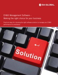 EH&S Management Software – Making the right choice ... - SAI Global