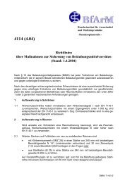 Richtlinien über Maßnahmen zur Sicherung von ...