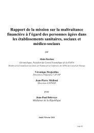Rapport de la mission sur la maltraitance financière à l'égard des ...