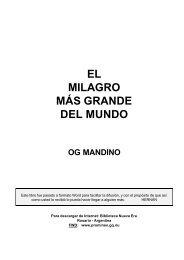 El milagro más grande del mundo (Og Mandino