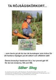 Infobroschyr Röjsågskörkort 100420 f webb.indd - Säker Skog